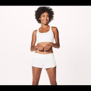 NEW Lululemon White Speed Shorts Size 12